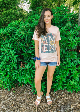 Amen Floral Graphic Tee