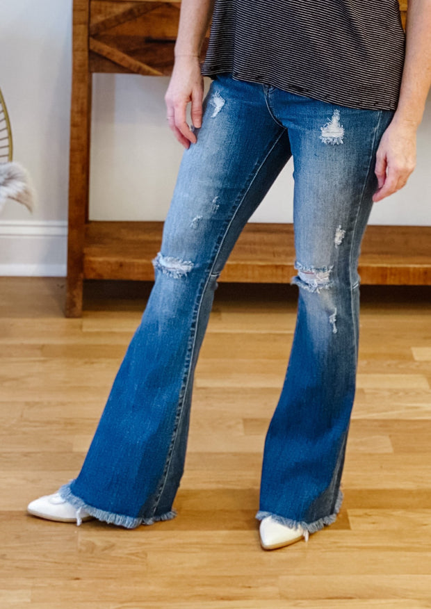 The High Rise Distressed Flare