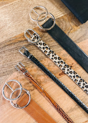 The Khloe Leopard Belt