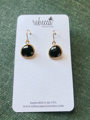 Rebecca Gemstone Drop Earrings