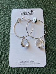Rebecca Hoop Earrings
