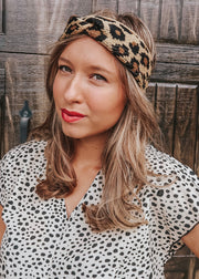 Leopard Criss Cross Turban
