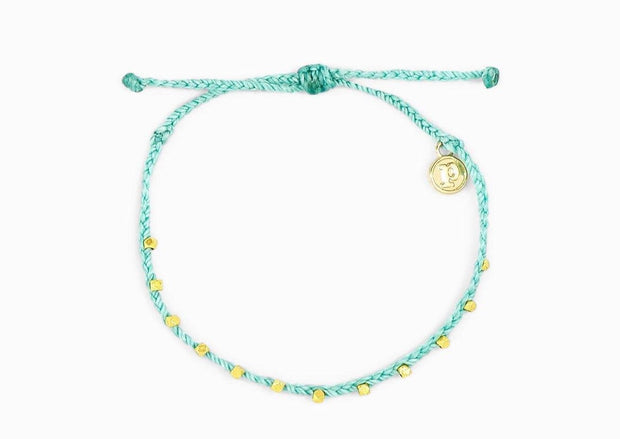 Pura Vida Gold Beaded Anklet
