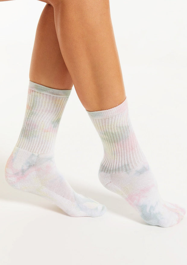 Multi Color Tie-Dye Socks