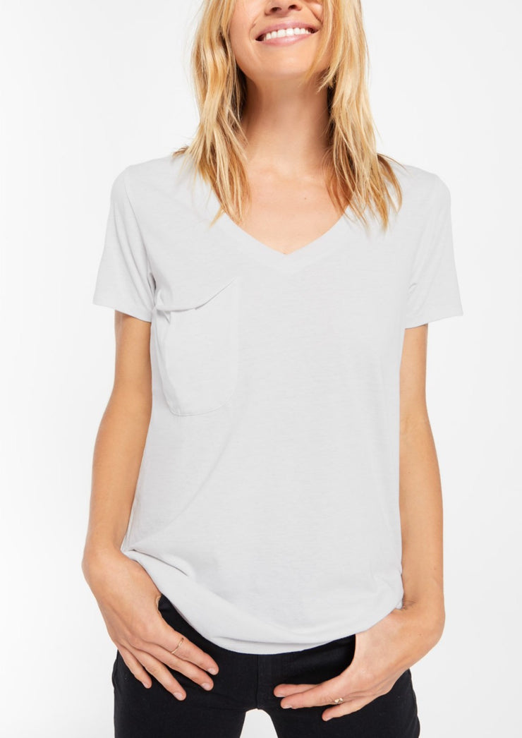 The Pocket Tee (dove grey)