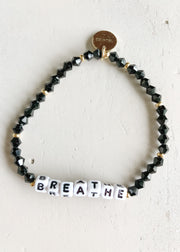 Breathe Bracelet - White Letters