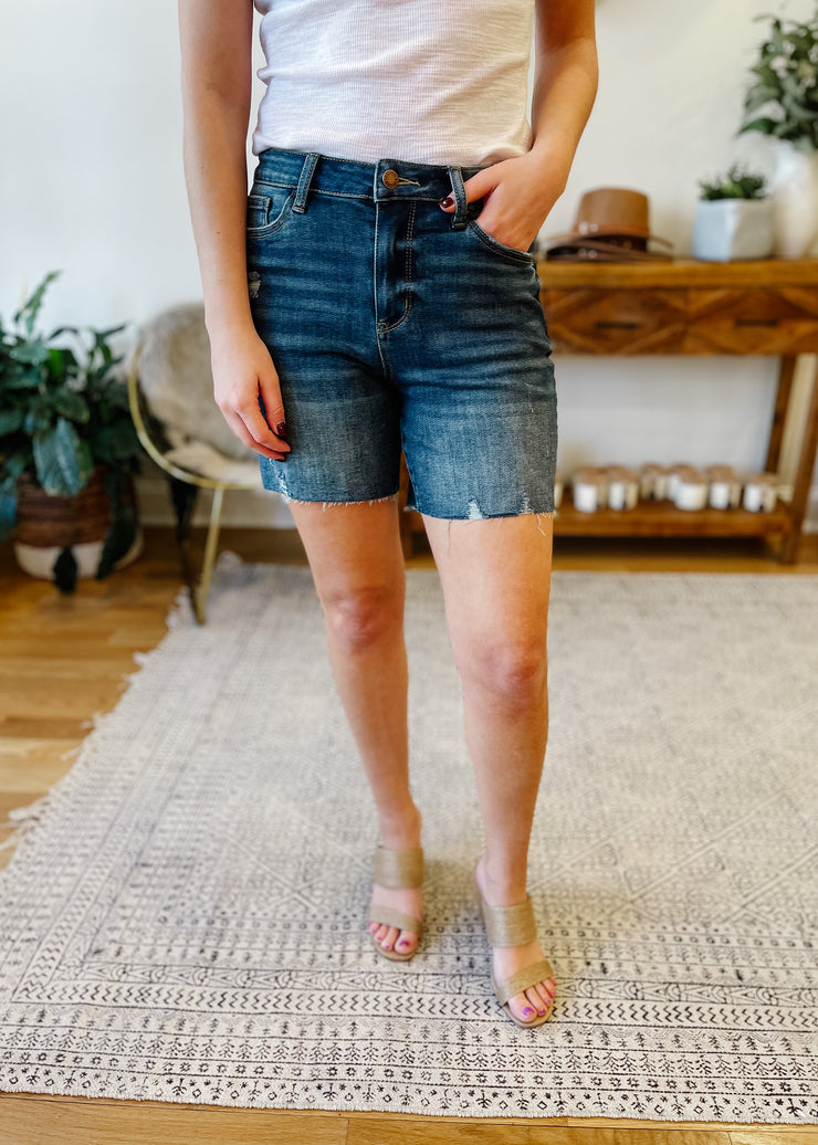 High Rise Mid-Thigh Shorts
