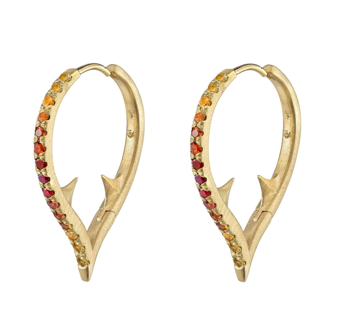 Ombré Altruist Hoop Earrings- Sunset