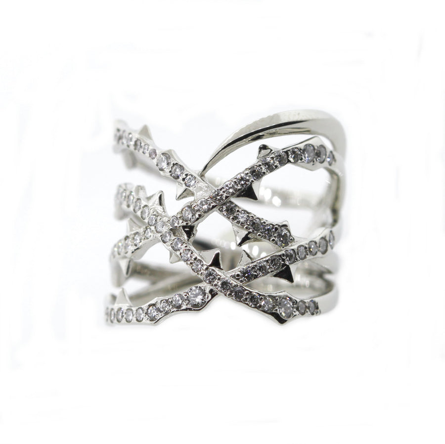 Armor Ring 18k White Gold