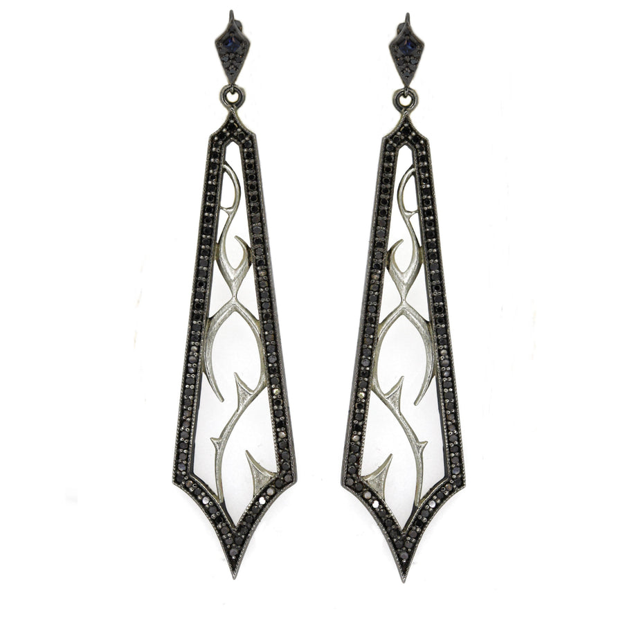 Fortitude Earrings 18k Black Diamond