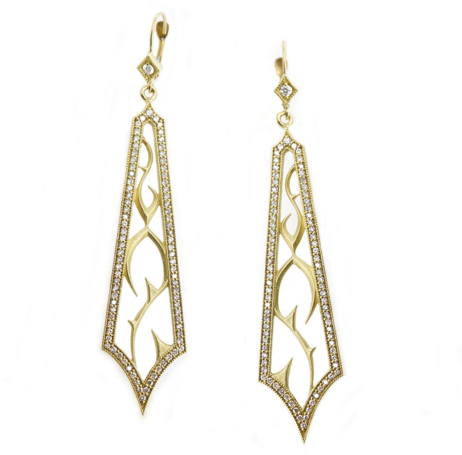 White Diamond Fortitude Earrings