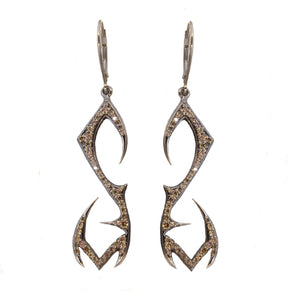 Champagne Diamond Phoenix Earrings