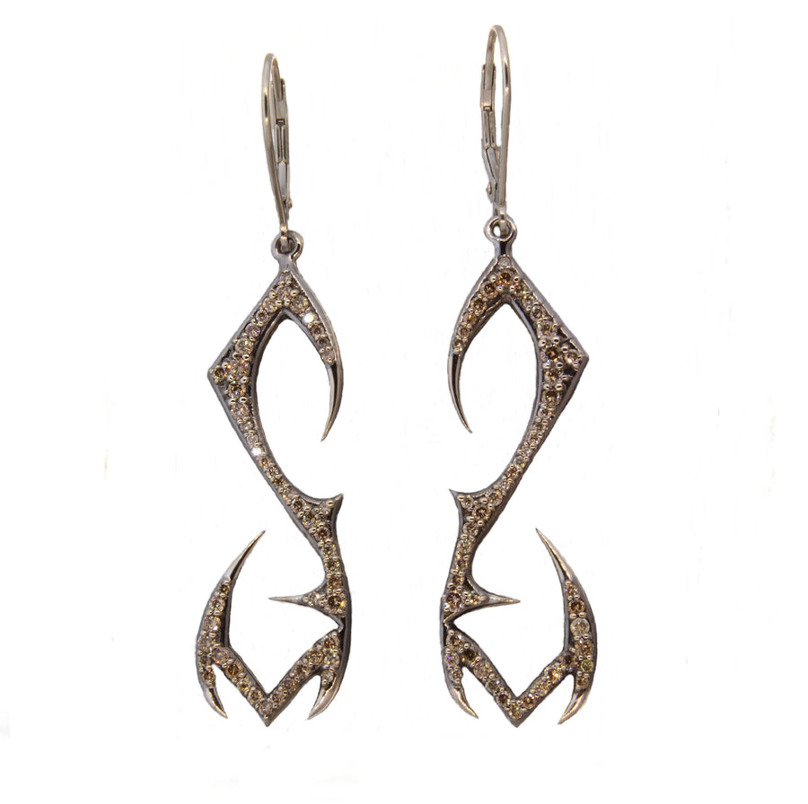 Phoenix Earrings 18k White Gold