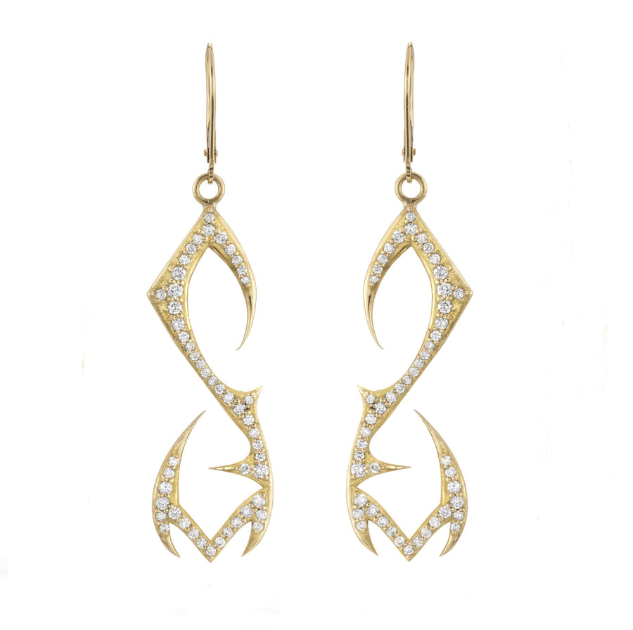 White Diamond Phoenix Earrings