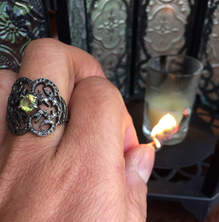 Tourmaline Mercury Ring