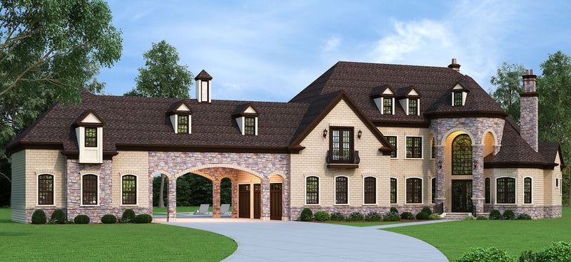 Porte Cochere House Plans