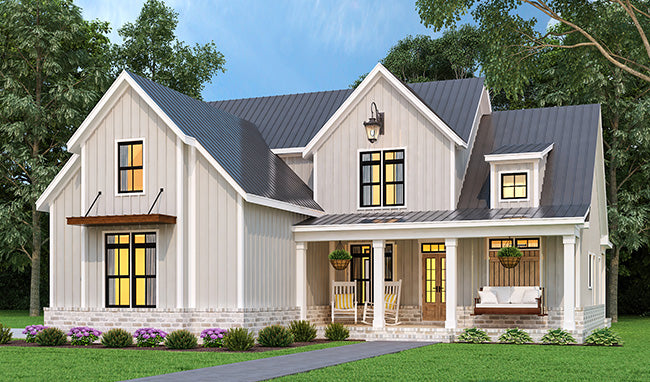 Cranberry Gardens House - Modern Farmhouse - Two-Story House Plan