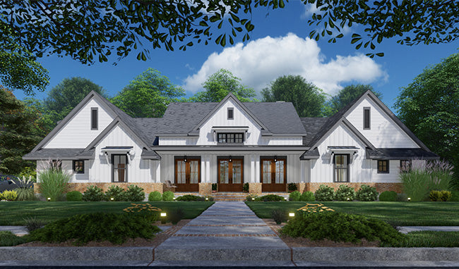 Creekview Court House Plan - One-Story House Plan - Modern Farmhouse