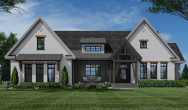 Emarie May Farm House - Modern Farmhouse - One-Story House Plan