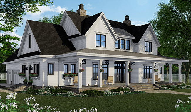 Silverbell Ranch House Plan - Country House Plan - Modern Farmhouse