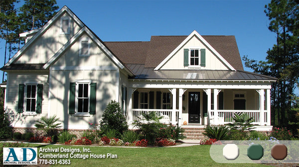 Cumberland Archival Designs Cottage House Plan Architecture