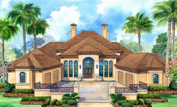 Katheko House | Tuscan House Plans | Open Floor Plan