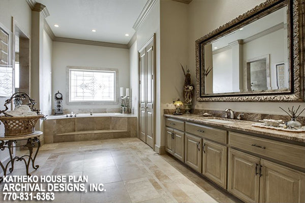 Luxury Architectural Style | Master Bathroom Retreat