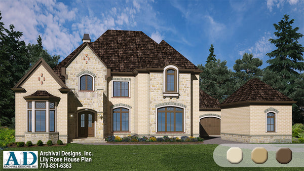Lily Rose House Plan European Style Architecture