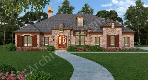Old Wesley- 2,365 sq. ft. with 3 bedrooms and 2 1/2 bathrooms.