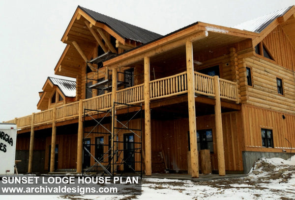 Sunset Lodge | Rustic Floor Plans | Log Floor Plans