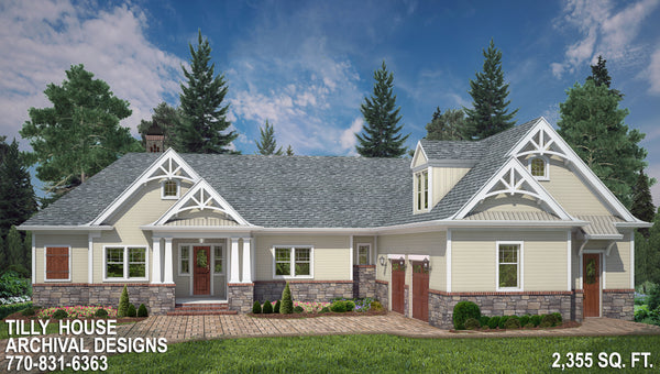 Craftsman Floor Plans | Ranch House Plans