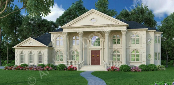 The Vinius House Plan: 5,699sq. ft. with 5 bedrooms and 4 bathrooms