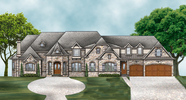 Adeline House Plan | Multigenerational House | In-law Suite