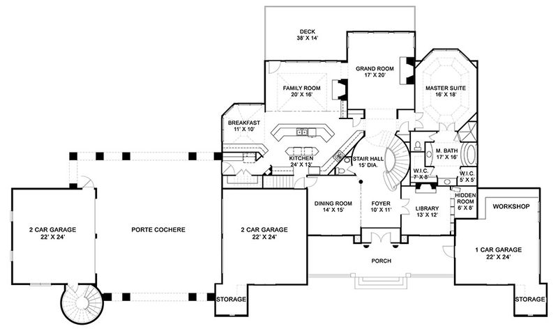 Abby Glen Castle main floor plan
