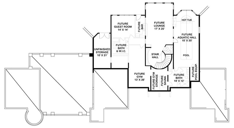 Abby Glen Castle basement floor plan