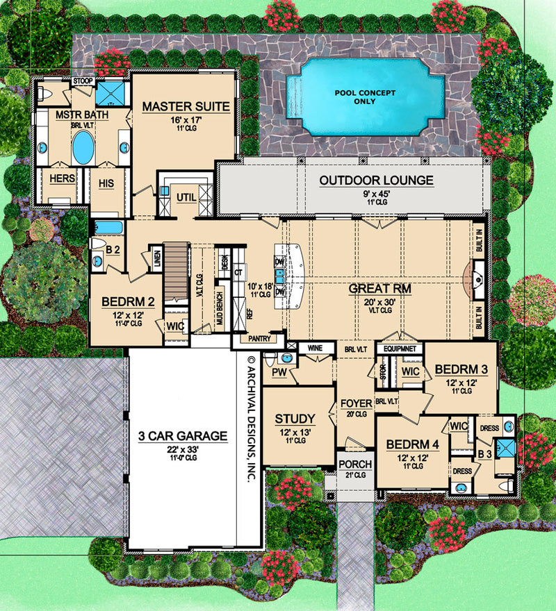 Abston Lane first floor, floor plan