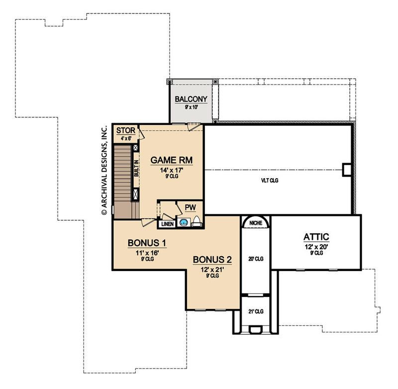 Abston Lane second floor, floor plan