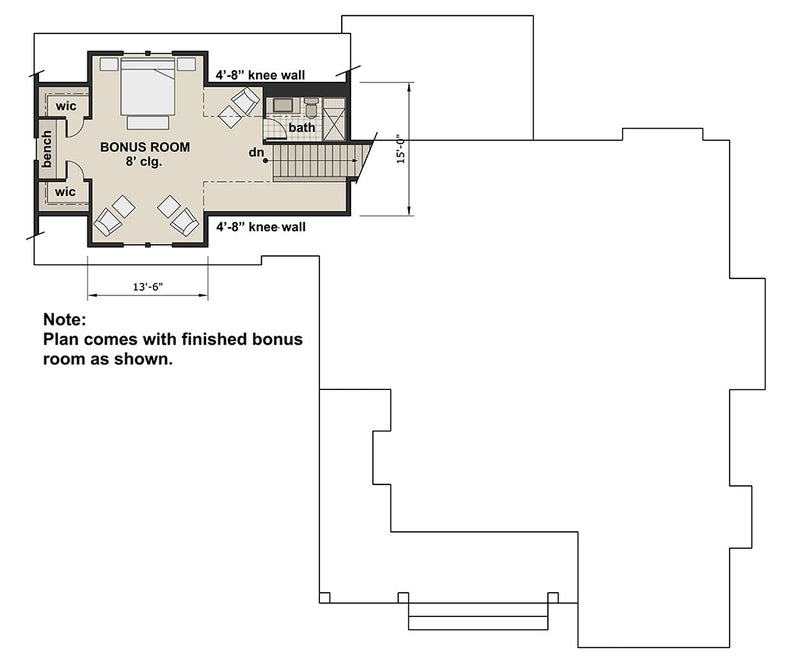 Acorn Farm, second floor plan