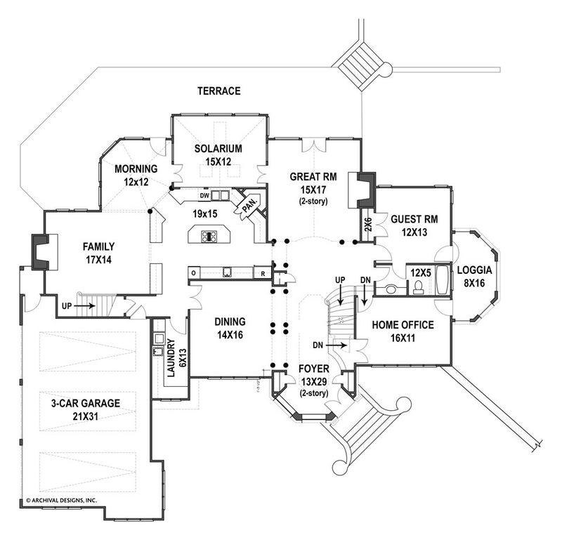 Amboise first floor, floor plan