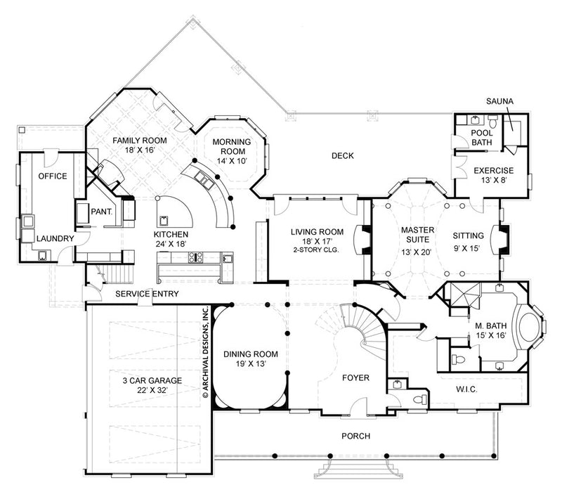 Anderson Estate first floor, floor plan