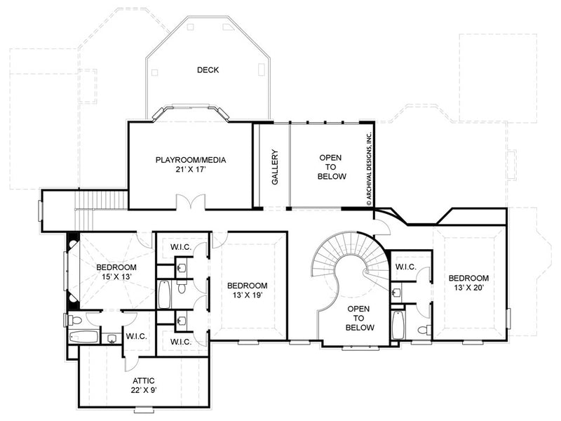 Anderson Estate second floor, floor plan