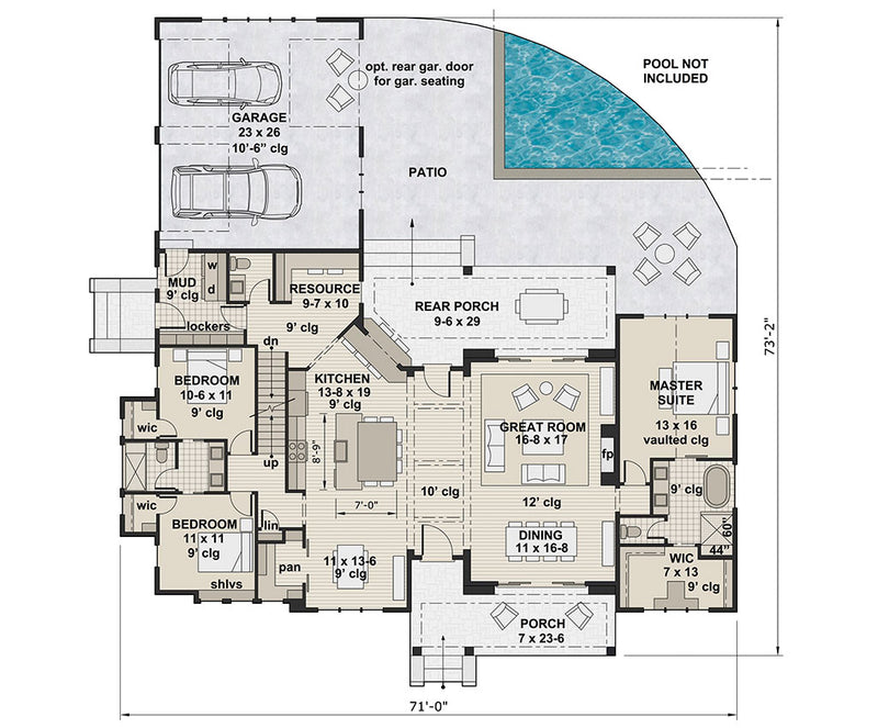 Ariana Marie, first floor plan