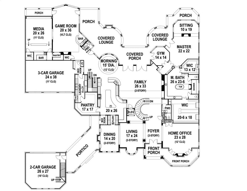 First Floor Plan | Armani Castle House