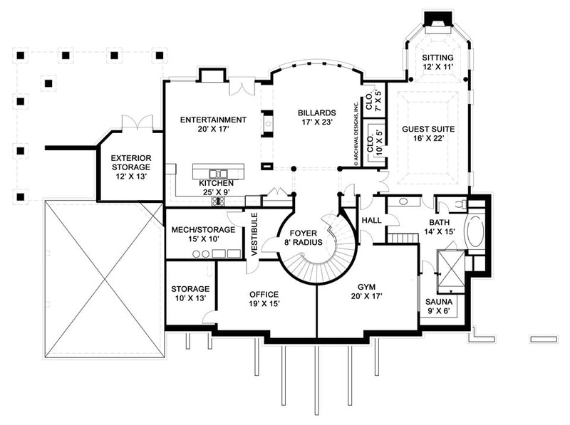 Ashlott basemnet floor plan
