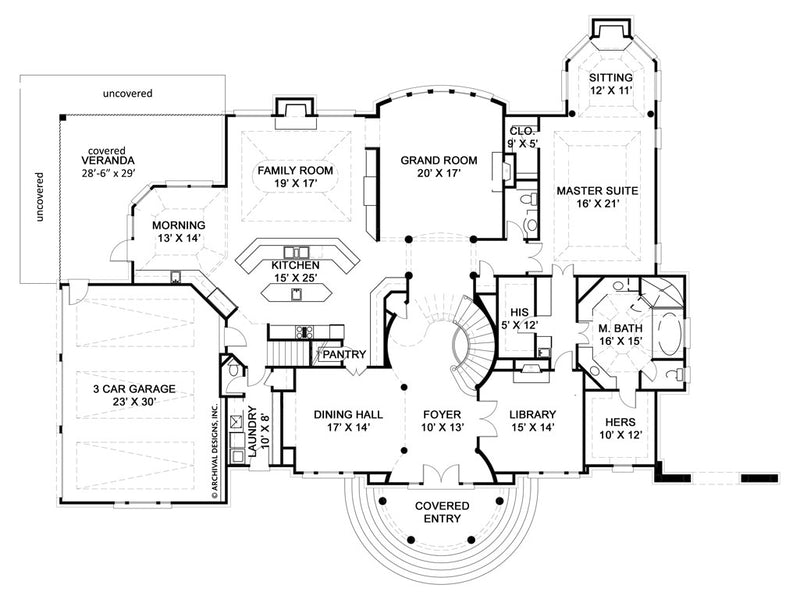 Ashlott first floor, floor plan