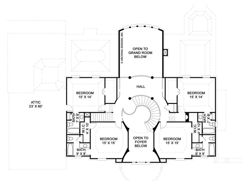 Ashlott second floor, floor plan