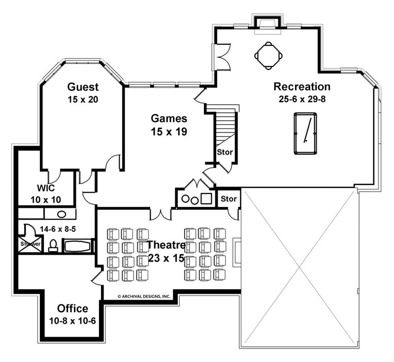 Aslet Place basement floor plan