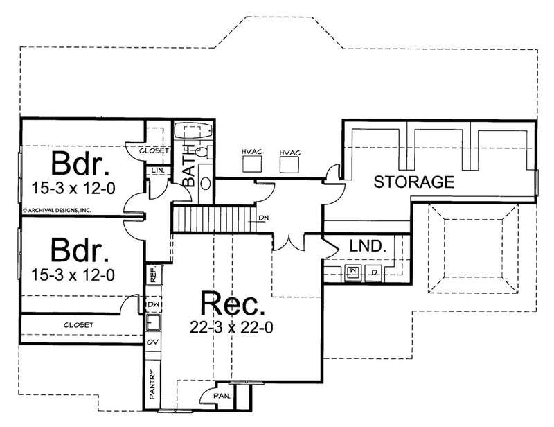 Audell second floor, floor plan