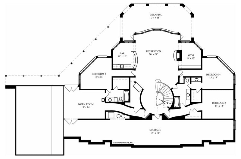 Avanleigh Estate basement floor plan
