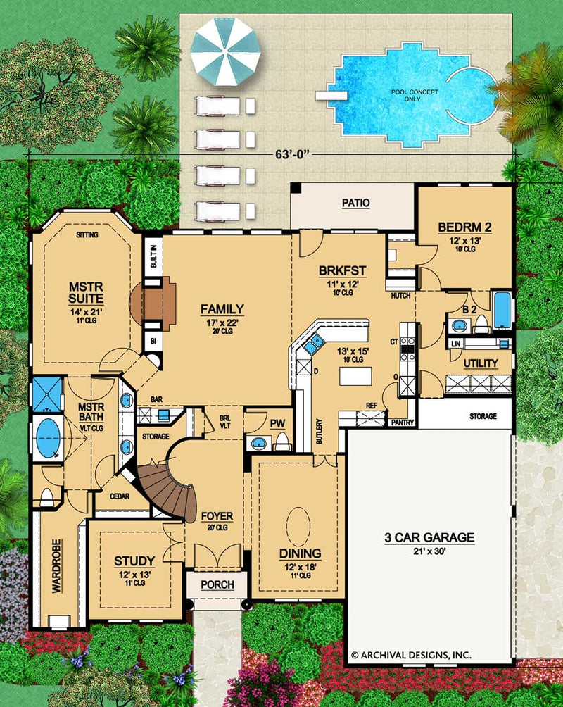 Broham Lakes First Floor, floor plan